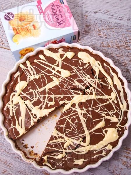 Какаов чийзкейк с печене - снимка на рецептата